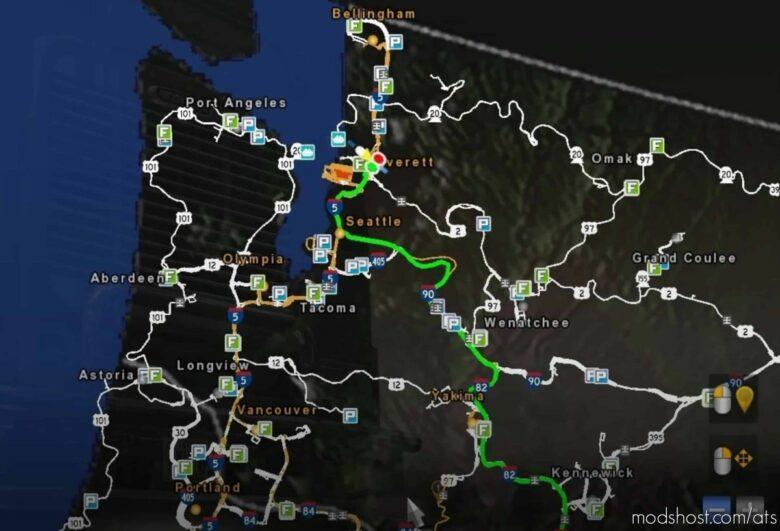 Worldmap Satellite Background [1.41] for American Truck Simulator