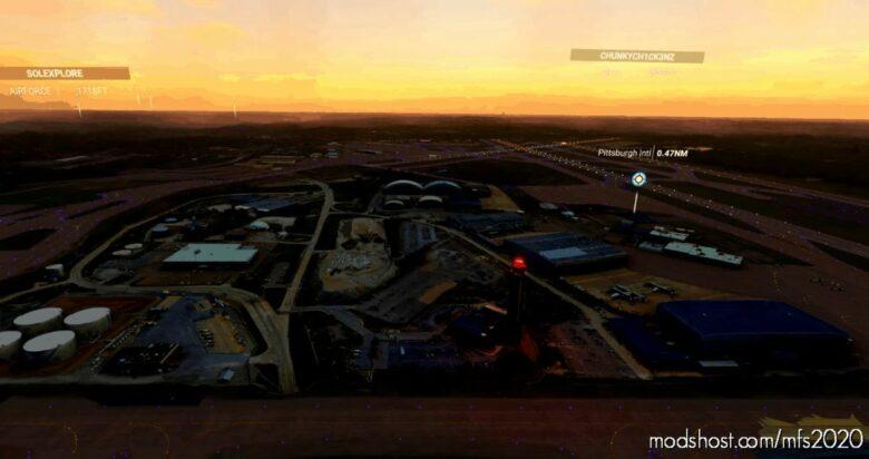 Pittsburgh International (Kpit) Scenery Pack 01 V1.1 for Microsoft Flight Simulator 2020