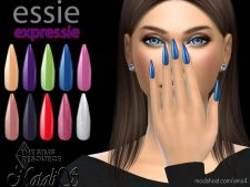 Essie Expressie Ballerina Nails for The Sims 4