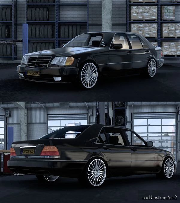 Mercedes-Benz W140 S-Class S600 V2 [1.41.X] for Euro Truck Simulator 2