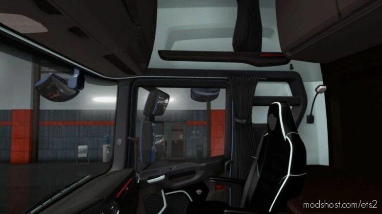 Scania S & R Black – White Interior [1.41] for Euro Truck Simulator 2