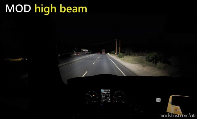 Bright Headlights [1.41] for American Truck Simulator