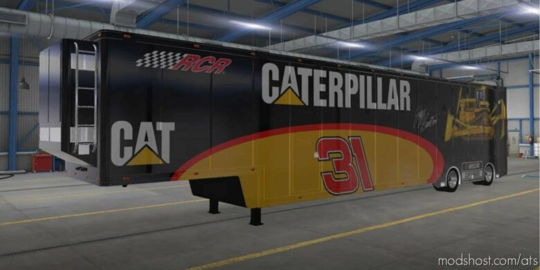 Nascar Featherlite Trailer Skins V1.3 for American Truck Simulator