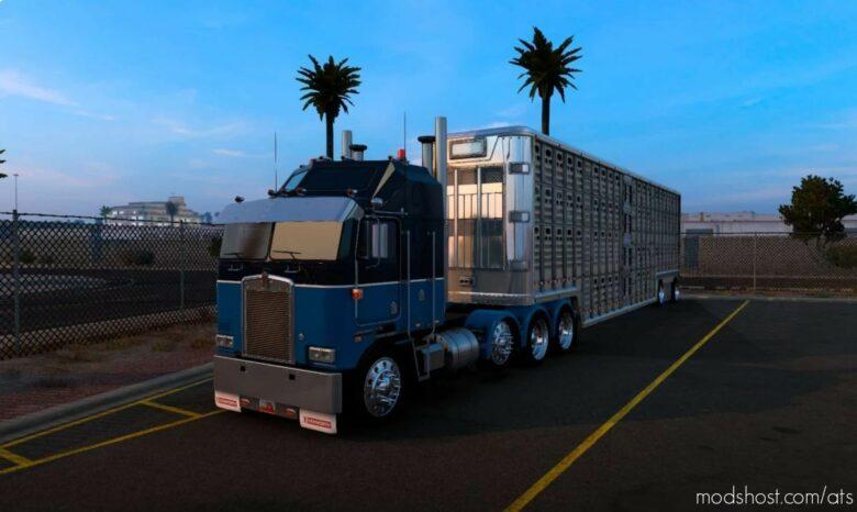 Custom Blue Skin Kenworth K100E for American Truck Simulator