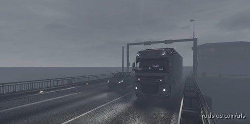 Increased Rain Intensity [1.41.X] for American Truck Simulator