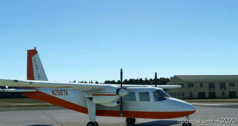 BN2A Tropic AIR N296TA Request for Microsoft Flight Simulator 2020