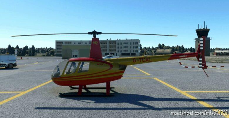 G-Tcal RED & Gold   Robinson R44   8K for Microsoft Flight Simulator 2020