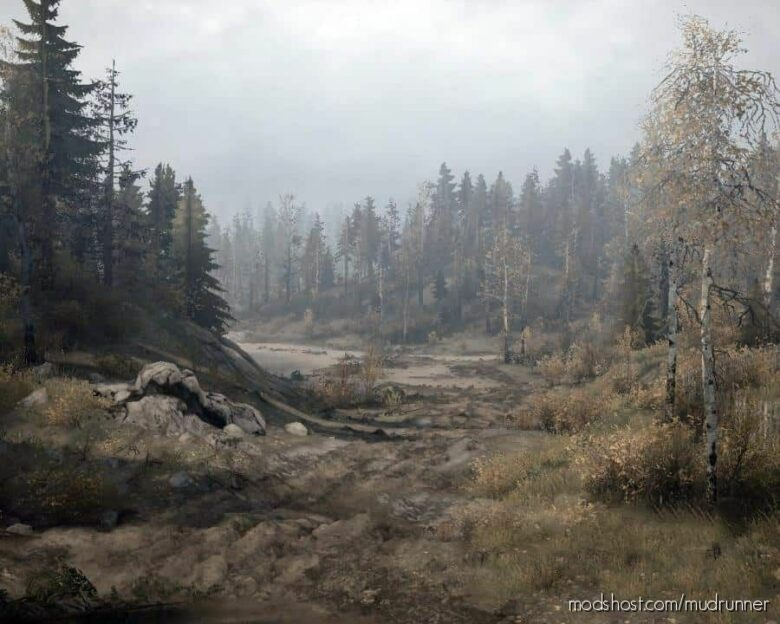 Black Lakes Map for MudRunner