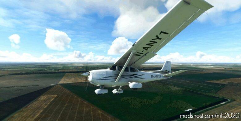 C172 Classic Red-Gray Generic REG for Microsoft Flight Simulator 2020