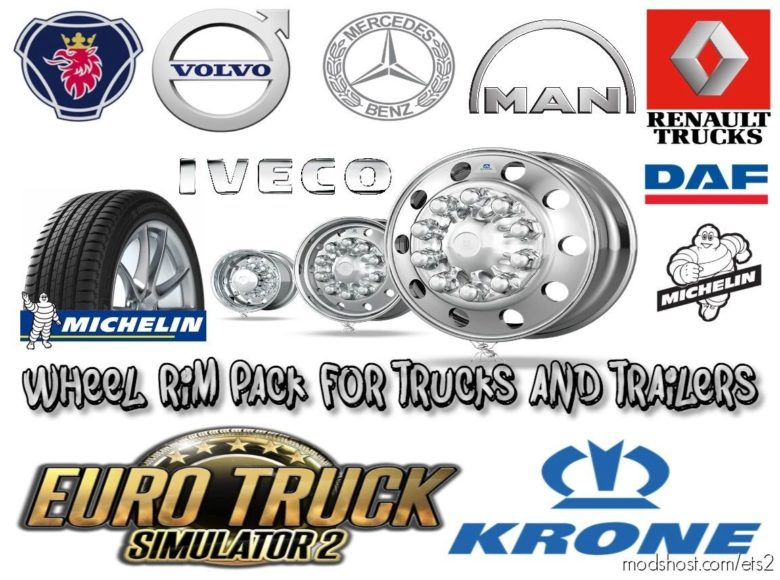Wheel RIM Pack For Trucks And Trailers [1.41] for Euro Truck Simulator 2