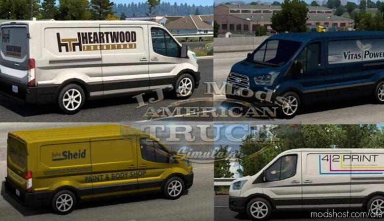 SCS Stock Company Vans V6.5 for American Truck Simulator