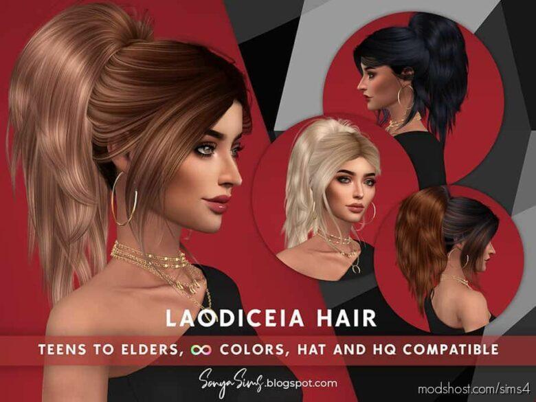 Laodiceia Hair for The Sims 4