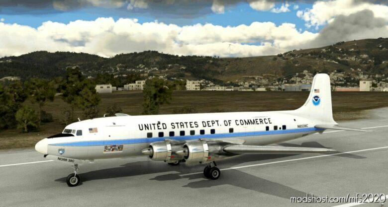 Noaa Hurricane Hunter DC-6A N6539C | 1975 for Microsoft Flight Simulator 2020