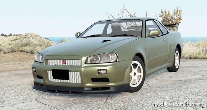 Nissan Skyline GT-R V-Spec II (BNR34) 2002 for BeamNG.drive