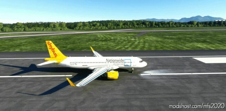 Skybus Nationwide Livery For FBW A32NX for Microsoft Flight Simulator 2020