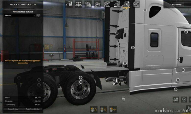Freightliner Cascadia Parts Pack V1.0.2 for American Truck Simulator