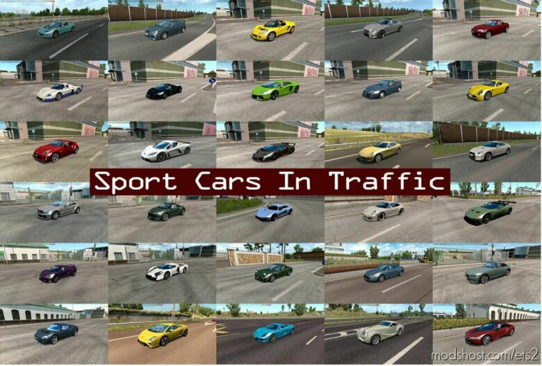 Sport Cars Traffic Pack By Trafficmaniac V9.1 for Euro Truck Simulator 2