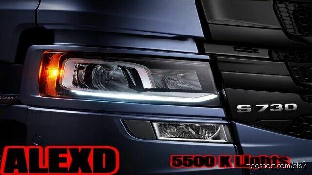 5500 K Lights For ALL Trucks V1.5 [1.42] for Euro Truck Simulator 2