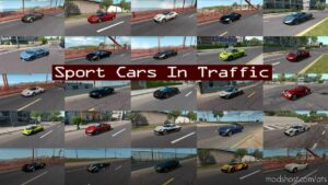 Sport Cars Traffic Pack By Trafficmaniac V9.1 for American Truck Simulator