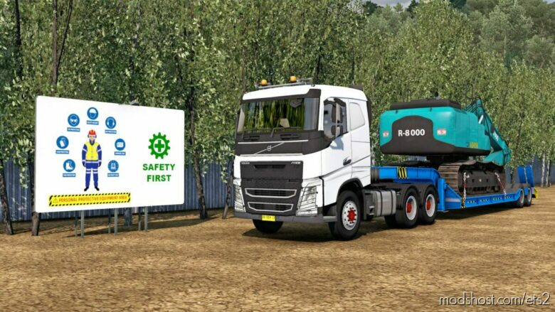 Trailer Combo Lowbed V2 Hilman Alwi – 1.36 To [1.41 – 1.42] Beta for Euro Truck Simulator 2