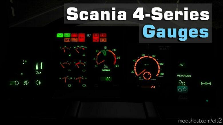 Scania 4-Series Gauges V2.0 for Euro Truck Simulator 2
