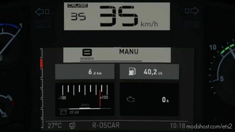 Renault T (+Evolution) Realistic Dashboard Computer [1.42] for Euro Truck Simulator 2