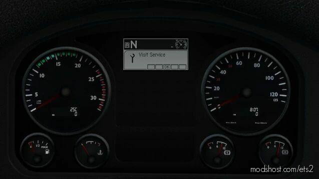 MAN TGX Realistic Dashboard Computer [1.41] for Euro Truck Simulator 2