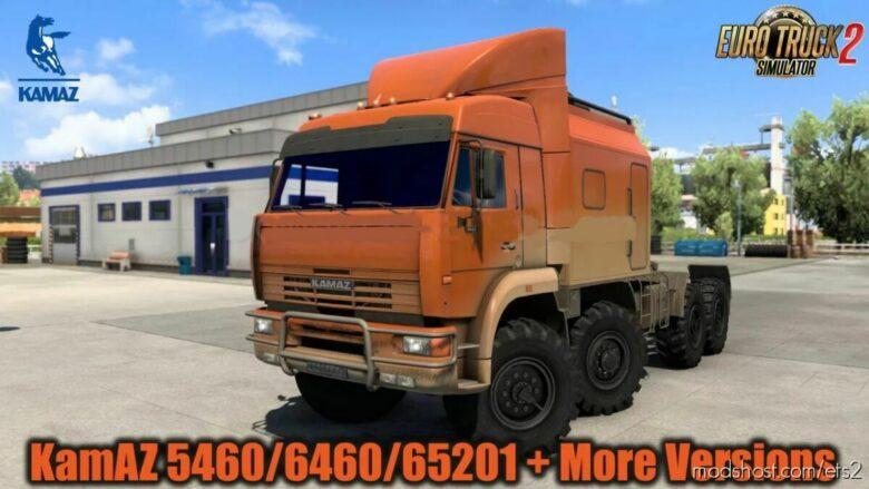 Kamaz 5460/6460/65201/65117/4326/65221/6350/43118 V7.4.1 for Euro Truck Simulator 2