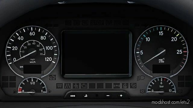 Mercedes-Benz Actros 2009 Corrected Gauges [1.42] for Euro Truck Simulator 2