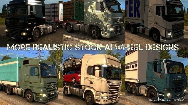 More Realistic Stock AI Wheels [1.42] for Euro Truck Simulator 2