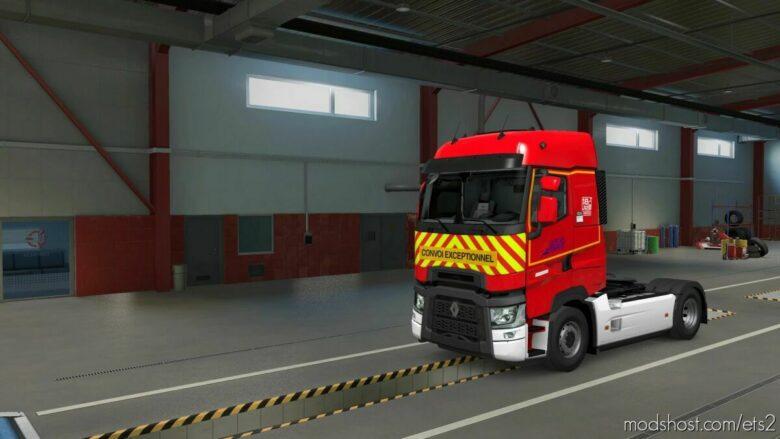 Skin Pompier DE Saône ET Loire Renault Range T First GEN for Euro Truck Simulator 2