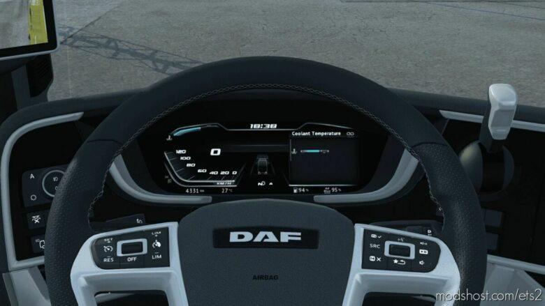 High Quality Dashboard – DAF XG & XG+ [With GPS Included] V2.2.1 for Euro Truck Simulator 2