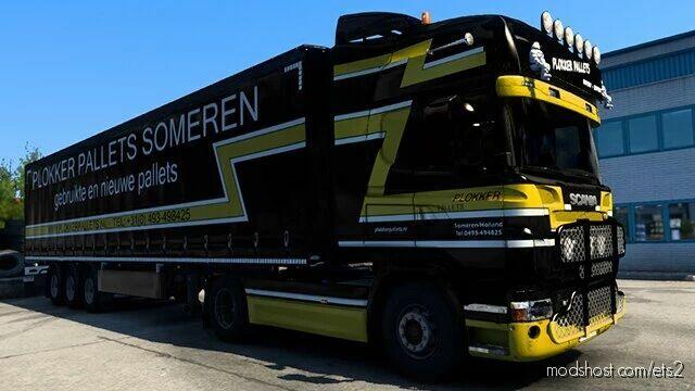 Scania RJL Plokker Pallets Skin for Euro Truck Simulator 2