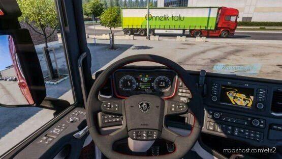 Scania Alcantara Steering Wheel & Truck Seat for Euro Truck Simulator 2