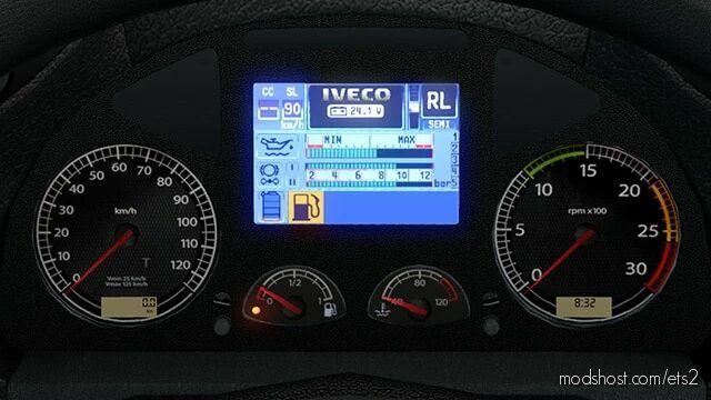 Iveco Stralis Realistic Dashboard Computer [1.42] for Euro Truck Simulator 2