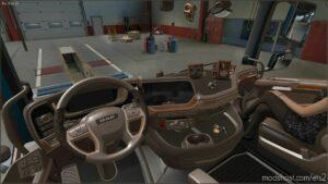 Beige Interior For DAF XG 2021 V0.8 for Euro Truck Simulator 2