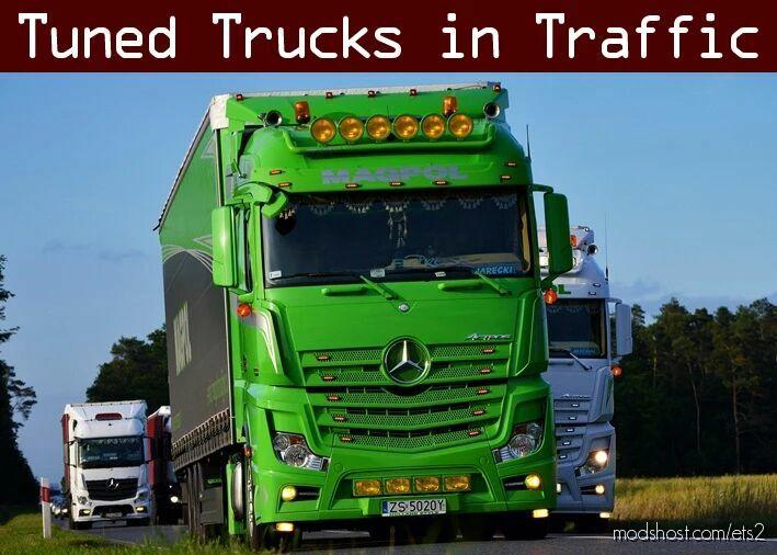 Tuned Truck Traffic Pack By Trafficmaniac V3.4 for Euro Truck Simulator 2