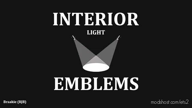 Interior Light & Emblems V8.1B [1.42] for Euro Truck Simulator 2