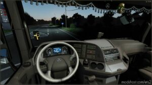 Beige Interior For Mercedes Actros 2009 V0.9.5 for Euro Truck Simulator 2