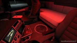 RED LED Interior Lighting Tuning Mod [1.42] for Euro Truck Simulator 2