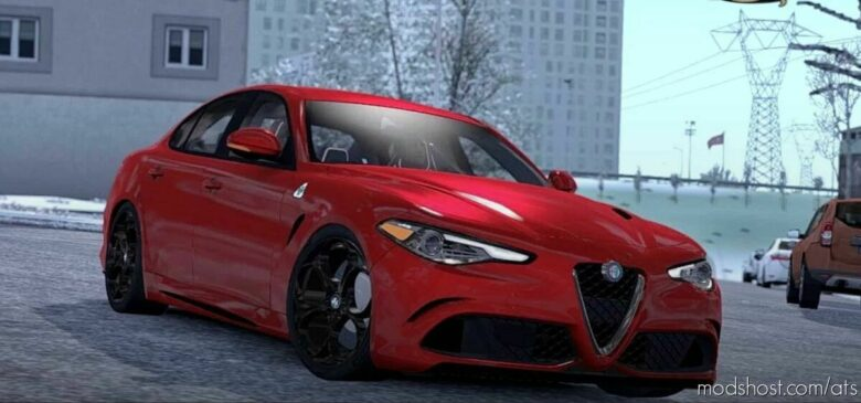 Alfa Romeo Giulia + Interior V1.7 [1.41] for American Truck Simulator