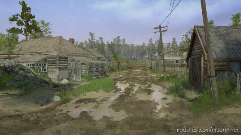 Siberian Village Map V1.1 for MudRunner