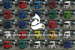 Pack Of Russian Skins For SCS Trucks By Mr.fox V0.7 [1.42] for Euro Truck Simulator 2