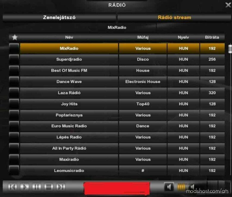 Hungarian Radio Stations for American Truck Simulator