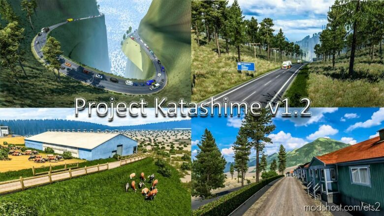 NEW Project Katashime V1.2 Map [1.41 – 1.42] for Euro Truck Simulator 2
