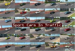 Sport Cars Traffic Pack By Trafficmaniac V9.2 for American Truck Simulator