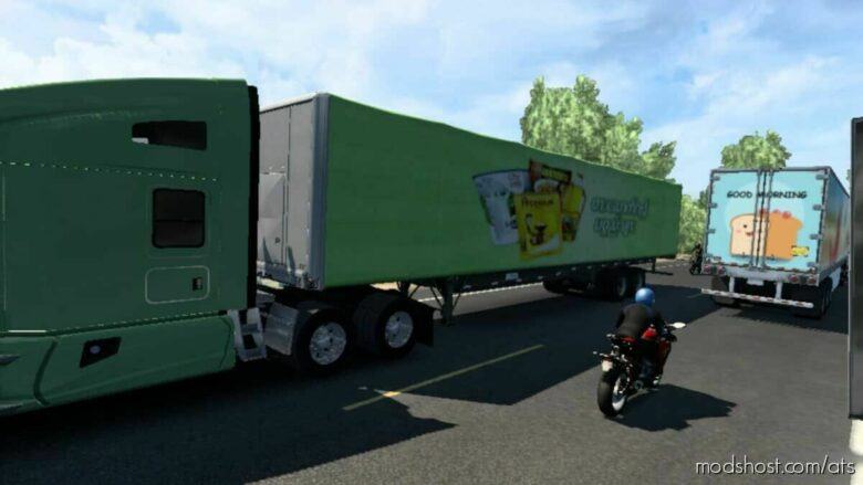 Myanmar Brands And World Brands Traffic V3 for American Truck Simulator