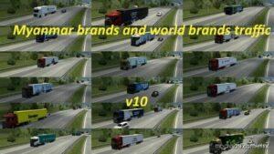 Myanmar And World Brands Traffic V10 for Euro Truck Simulator 2