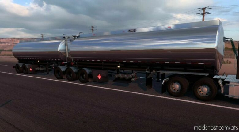 Advance B-Train Tanker V1.2R (+Wheel Particles E.G.) [1.42] for American Truck Simulator