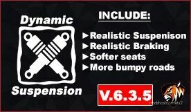 Dynamic Suspension V6.3.5.1 Older Versions [1.42] for Euro Truck Simulator 2